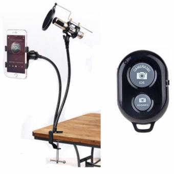 Professional Recording Microphone Suspension Flexible Arm StandHolder with Remote