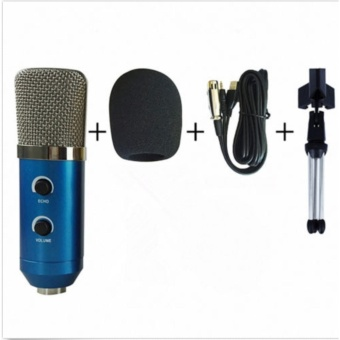 Professional USB Condenser Sound Podcast Studio Microphone For KTVPC Laptop - intl