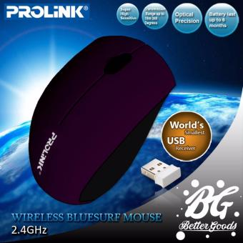 Prolink PMO716G Wireless Super Mini Bluesurf Mouse (Violet)