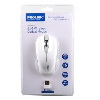Prolink PMW6001 2.4G Wireless Optical Mouse (White)