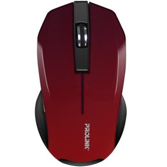 Prolink PMW6001 Wireless Nano 2.4Gh USB Optical Mouse (Red)