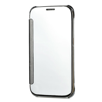 Protective Mirror Cover PU Leather Case for Samsung Galaxy S6(Silver)