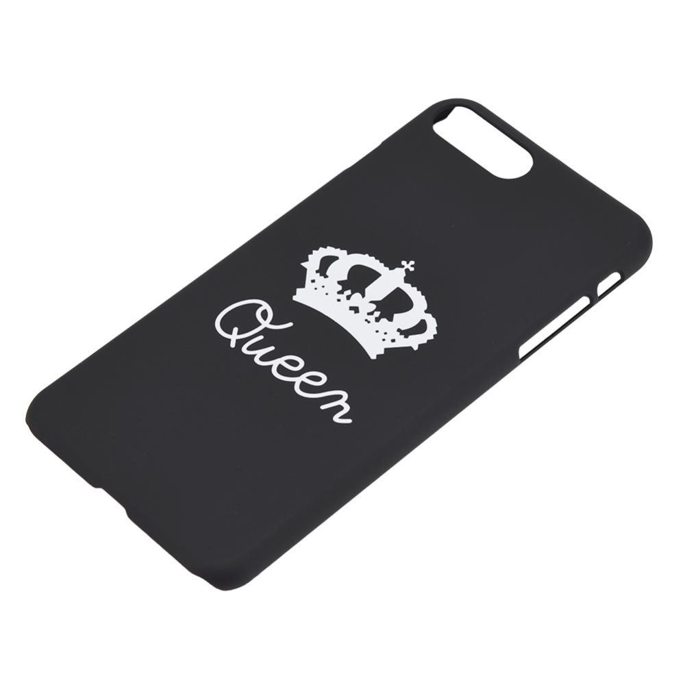 Protective PC Phone Case King Queen Couple Matching Hard Back CoverFor iPhone 7 .