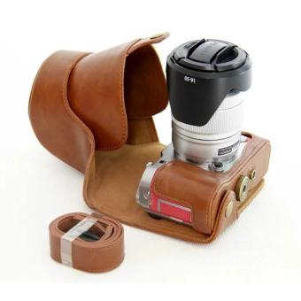 PU Leather Camera Case Cover for Fujifilm X-A3 XA3 16-50/18-55mmLens(Brown) - intl