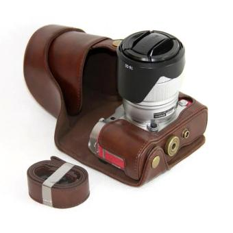 PU Leather Camera Case Cover for Fujifilm X-A3 XA3 16-50/18-55mmLens(Coffee) - intl