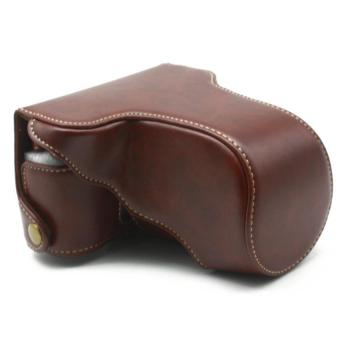 PU Leather Camera Hard Cover Case Bag Protector cover for FinepixFuji Fujifilm X-A3 XA3 16-50mm Lens(Coffee) - intl