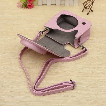 PU Leather Camera Shoulder Bag For Fujifilm Intax Mini 8/8s Pink - Intl