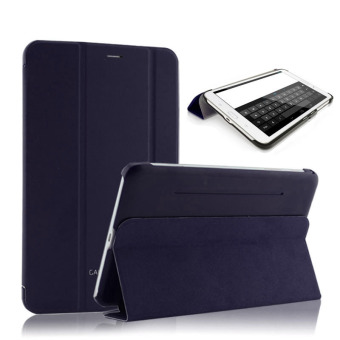 PU leather Case Cover for Samsung Galaxy Tab 3 7.0 Lite T110 T111 (Dark Blue)