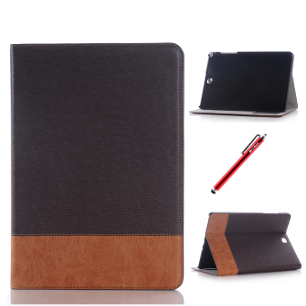 PU Leather Flip Case Cover for Samsung Galaxy Tab A 8.0 T350(Coffee)