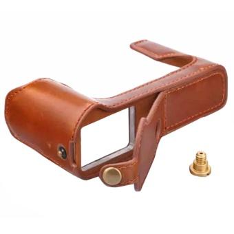 PU Leather Half Camera Case Bag Cover Base for Fujifilm XT10 X-T10XT20 X-T20 - intl - 2