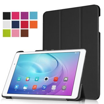 PU Leather Slim Smart Case Cover (With Auto Wake / Sleep Feature)for Huawei Mediapad M3 8.4-Inch Android Tablet (Black) - intl