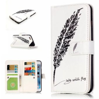 PU Leather Wallet Case Cover for Apple iPhone 6 / 6s (Multicolor) -intl