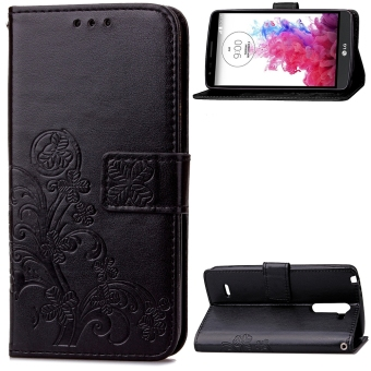 PU Leather Wallet Flip Stand Case Cover for LG G3 Stylus D690/D693