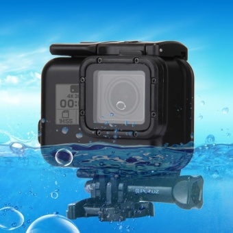 PULUZ 2 In 1 For GoPro HERO5 Back Cover + 30m Waterproof HousingProtective Case With Buckle Basic Mount and Lead Screw, No Need ToRemove Lens - intl