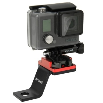 PULUZ Fixed Metal Motorcycle Holder Mount For GoPro HERO5 /4 /3+ /3/2 /1(Red) - intl