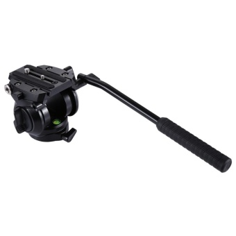 PULUZ Heavy Duty Video Camera Tripod Action Fluid Drag Head WithSliding Plate For DSLR and SLR Cameras (Black) - intl Price Philippines