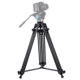PULUZ Professional Heavy Duty Video Camcorder Aluminum Alloy Tripod For DSLR / SLR Camera, Adjustable Height: 62-160cm - intl