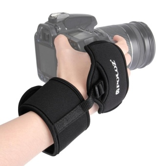 PULUZ Soft Neoprene Hand Grip Wrist Strap With 1/4 Inch ScrewPlastic Plate For SLR / DSLR Cameras - intl Price Philippines