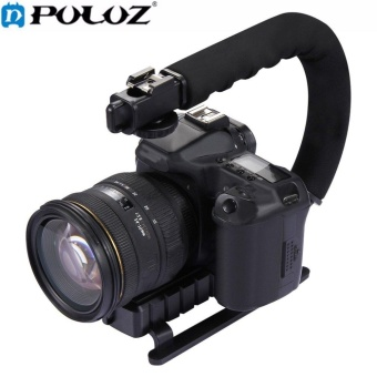 PULUZ U-grip Triple Shoe Mount Video Action Stabilizing Handle GripRig PU3005 Black - intl Price Philippines