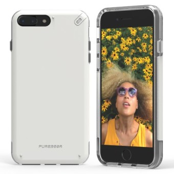 Puregear Dualtek PRO Rubberized Plastic Case for iPhone 7 Plus(White)