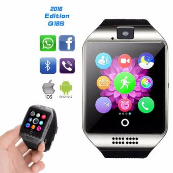 Q18 Bluetooth Touch Screen Smart Watch For Smartphone (Black/Silver)
