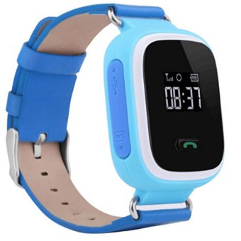 Q60 Smart Watch Phone Children Kids SmartWatch GPS Tracker Anti-Lost Monitor SOS Call Location Finder Wristwatch (Blue)