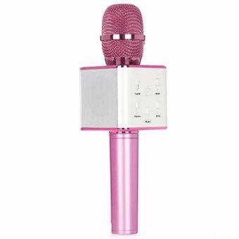 Q7 KTV Karaoke Wireless Bluetooth Microphone with Mic Speaker Condenser with Storage Box (Pink) - 2