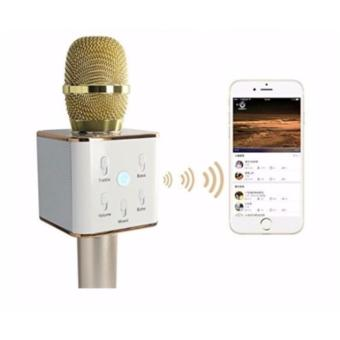 Q7 Portable Rechargable Wireless Bluetooth Speaker Microphone Mic (White/Gold) Price in Philippines