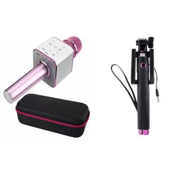 Q7 Portable Wireless Bluetooth Speaker Microphone Mic with 2600mAhLarge Capacity Battery for iOS and Android (Pink) with 78CM ThreeGenerations Drive-BY-Wire Selfie Stick Monopod Price in Philippines