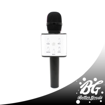 Q7 Wireless Bluetooth Microphone & HIFI Speaker (Black)