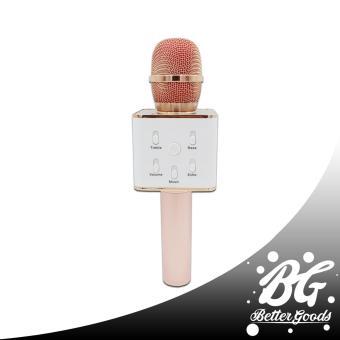 Q7 Wireless Bluetooth Microphone & HIFI Speaker (Gold/White) - 3