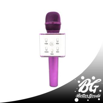 Q7 Wireless Bluetooth Microphone & HIFI Speaker (Violet/White)