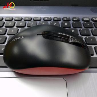 Q8 Wireless Optical Finger 2.4G USB Mice Mouse Tablet PC LaptopDesktop Charging (Black) - 2