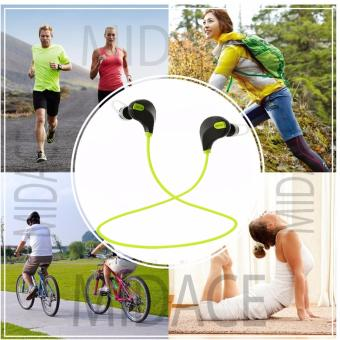 QCY QY7 Original 80dB Sweat-Proof Sporty Bluetooth Headset (Black/Green)