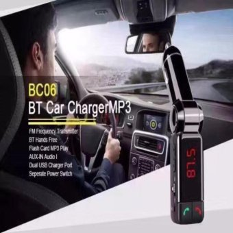 QF Car MP3 Audio Player Bluetooth FM Transmitter Wireless FMModulator Car Kit HandsFree LCD Display USB Charger for iPhoneSamsung