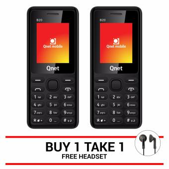 QNET MOBILE B20 (Black) Buy One Take One