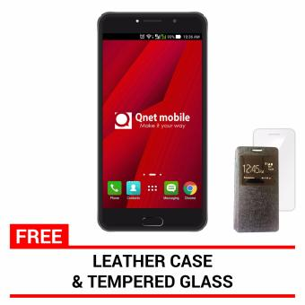 QNET MOBILE LINX 4GB (Gold) with FREE Leather Case and Tempered Glass