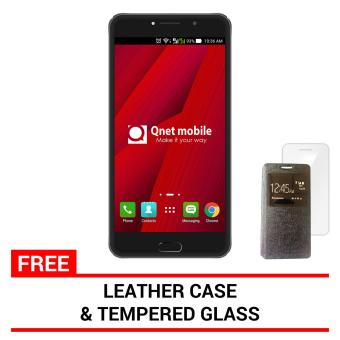 QNET MOBILE LINX 4GB (Grey) with FREE Leather Case and Tempered Glass