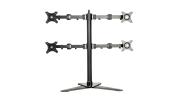 "Quad Monitor Free Standing Desk Mount Four Display Arm LCD Stand 4Screen Fit for 10""~30"" Max Support 10KG Weight Per Arm Price Philippines"