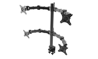 "Quad Monitor Heavy Duty Desktop Mount Four Arm LCD Stand QuadScreens Bracket Fit for 10""~30"", Max Support 10KG Per Arm"