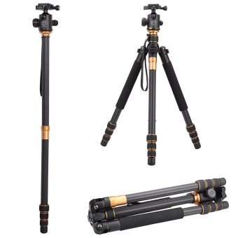 QZSD Q999C Pro Tripod Monopod Carbon Fiber Ball Head Portable Detachable Changeable Traveling for SLR Camera DSLR Camcorder Price Philippines