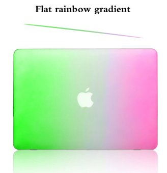 Rainbow Colorfu Protective Tablet Case For Apple Mac-book 13.3 Inchair (Green-purple)