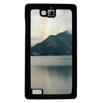 Rainbow Colorful Pattern Phone Case for Huawei Honor 3C (Black)