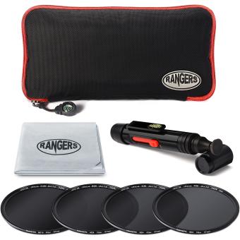 Rangers 67mm ND2 4 8 16 Filter Set Neutral Density + Cleaning Pen for Nikon RA20 - 3
