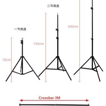 RANWD 2 x 3m 6.5FT Professinal Photography Background BackdropsSupport System Stands Studio With Carry Bag - intl - 4