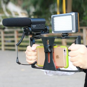 RANWD Ulanzi Smartphone Video Handle Rig Filmmaking Stabilizer Casemovie youtube videos/ get Led Light & Rode VideoMicromicrophone - intl - 4