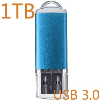 ~ READY STOCK ~ 1TB U Disk High-speed Read and Write USB3.0Practical Android Two Head Flash Drive Usb High-speed Transmissionof Metal Texture U Disk Memory Card (blue) - intl - 3