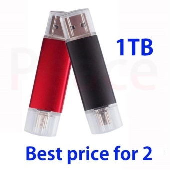 ~ READY STOCK ~ External Storage Memory Storage Pen Drive 1TBHigh-speed Read and Write USB 3.0 Practical Android Two Head UsbHigh-speed Transmission of Texture OTG U Disk Memory Card (black) -intl - 2