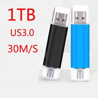 ~ READY STOCK ~ External Storage Memory Storage Pen Drive 1TBHigh-speed Read and Write USB 3.0 Practical Android Two Head UsbHigh-speed Transmission of Texture OTG U Disk Memory Card (black) -intl - 4
