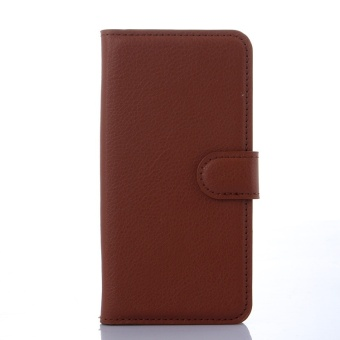 [Ready Stock] SZYHOME Phone Cases For BlackBerry Passport Q30 Luxury Retro Leather Wallet Flip Cover Solid Color Shell ( Black ) - intl - 4